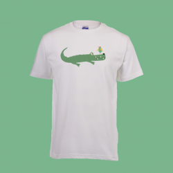 Lion tamer greeting card