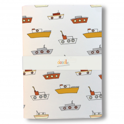 Retro vespas zip bag